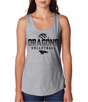 Womens X-Temp Performance Tank Top - Dragons Volleyball