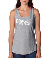 Womens X-Temp Performance Tank Top - Dragons Football Slashed