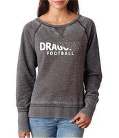 Womens Zen Contrast Crew Top - Dragons Football Slashed White