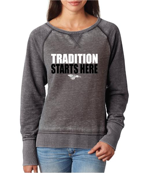 Womens Zen Contrast Crew Top -  Tradition Starts Here