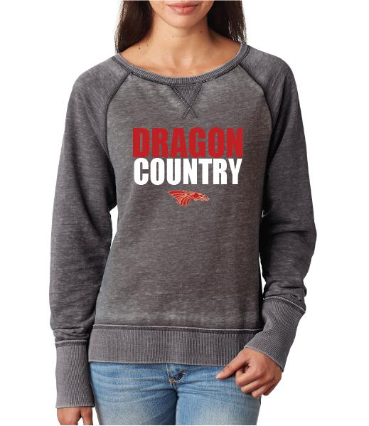 Womens Zen Contrast Crew Top -  Dragon Country