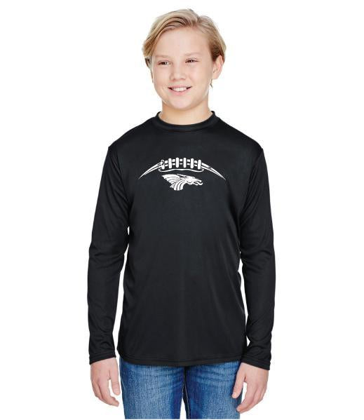 Youth Long Sleeve T-Shirt - Dragons Football Laces