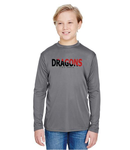 Youth Long Sleeve T-Shirt - Dragons Slashed