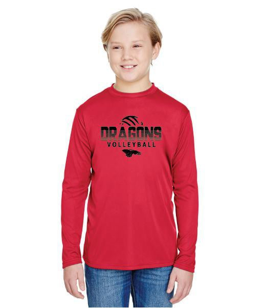 Youth Long Sleeve T-Shirt - Dragons Volleyball