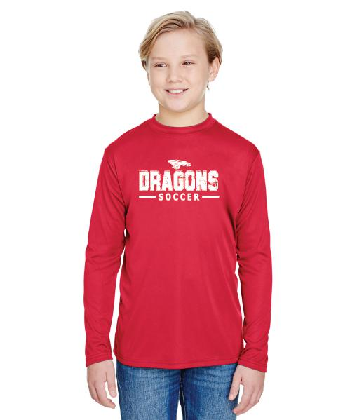 Youth Long Sleeve T-Shirt - Dragons Soccer