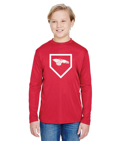 Youth Long Sleeve T-Shirt - Dragons Baseball Home Plate
