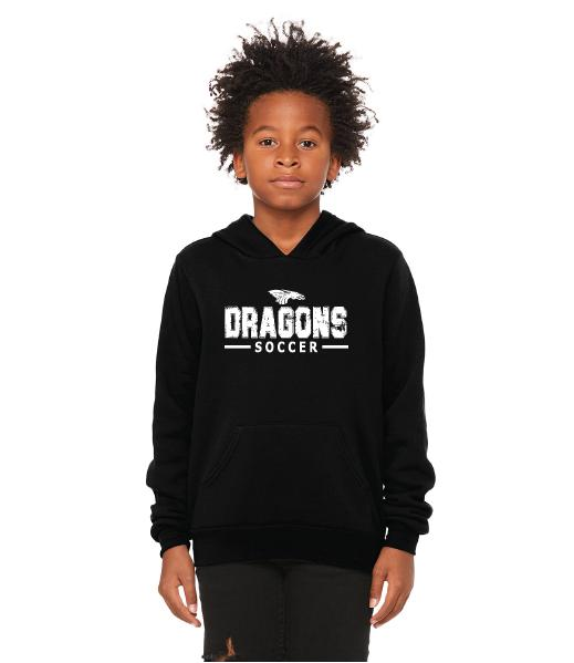 Youth Unisex Sponge Fleece Hoodie - Dragons Soccer