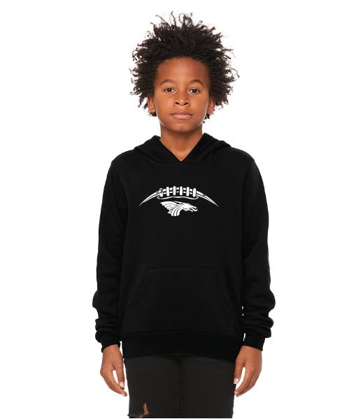 Youth Unisex Sponge Fleece Hoodie - Dragons Football Laces