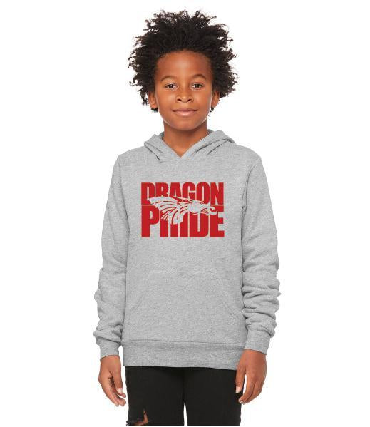 Youth Unisex Sponge Fleece Hoodie - Dragon Pride