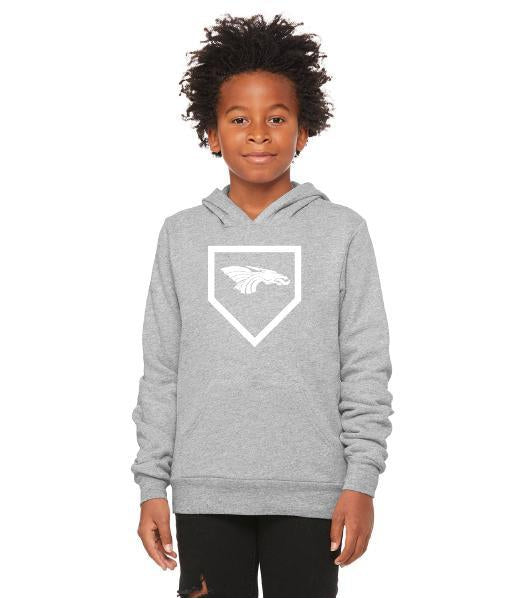 Youth Unisex Sponge Fleece Hoodie - Dragons Baseball Home Plate