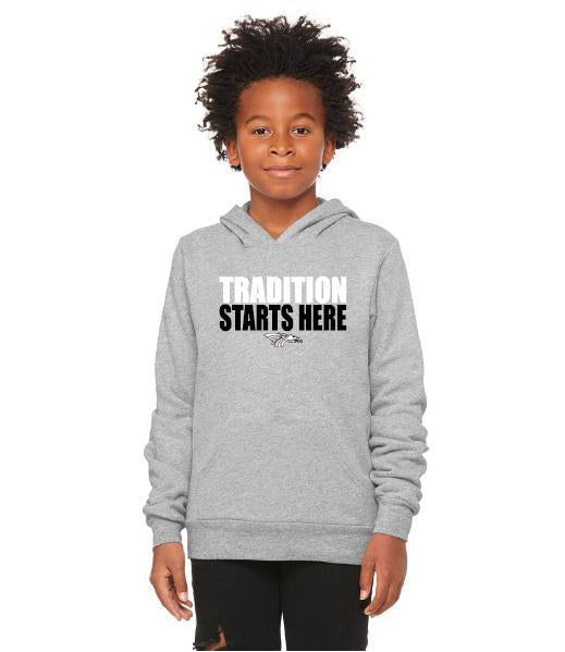Youth Unisex Sponge Fleece Hoodie - Tradition Starts Here