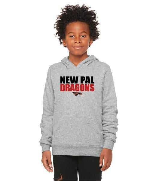 Youth Unisex Sponge Fleece Hoodie - New Pal Dragons