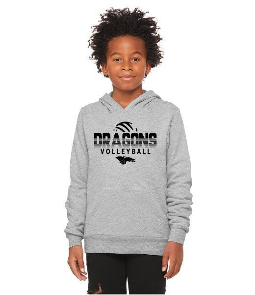 Youth Unisex Sponge Fleece Hoodie - Dragons Volleyball