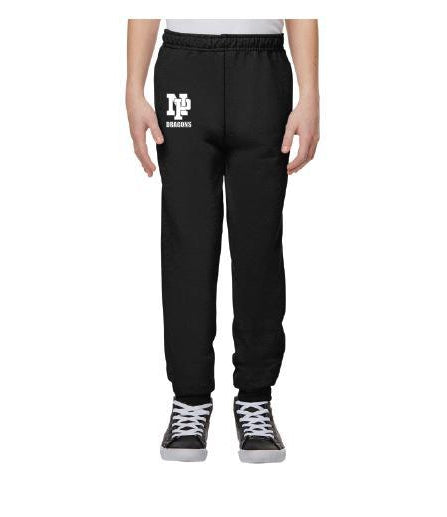 Youth Unisex Joggers - White NP Dragons Stacked