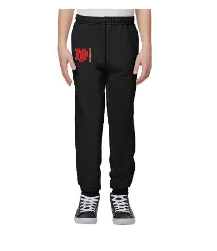 Youth Unisex Joggers - Red NP Dragons Side By Side