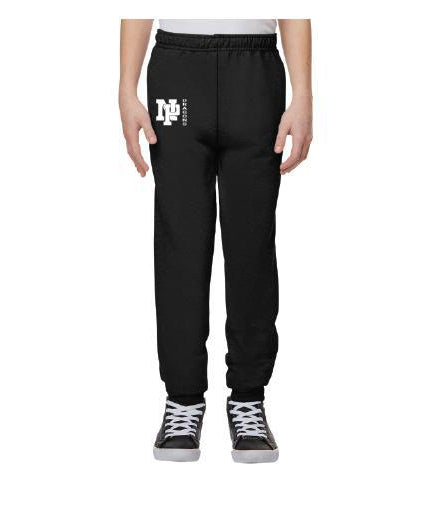 Youth Unisex Joggers - White NP Dragons Side By Side