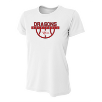 Womens Short Sleeve T-Shirt - Dragons Basketball