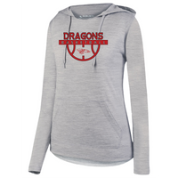 Womens Lightweight Hoodie - Dragons Basketball
