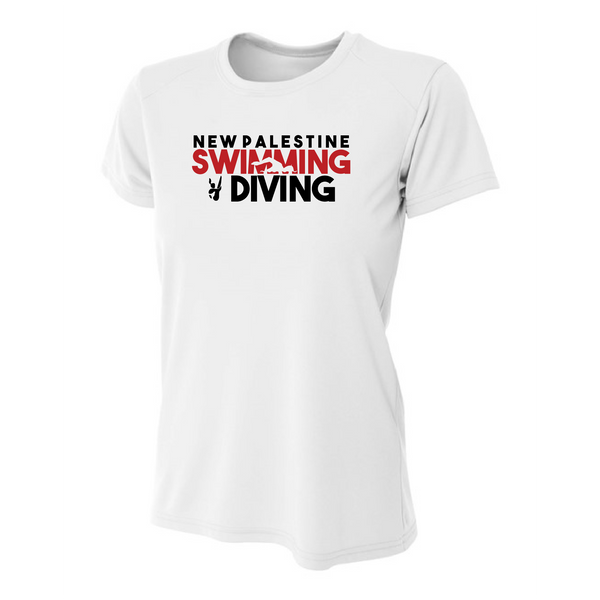 Womens Short Sleeve T-Shirt - Dragons Swimming & Diving