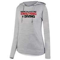 Womens Lightweight Hoodie - Dragons Swimming & Diving