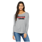 Womens Flowy Long Sleeve T-Shirt - Dragons Swimming & Diving