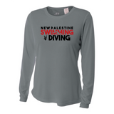 Womens Long Sleeve T-Shirt - Dragons Swimming & Diving