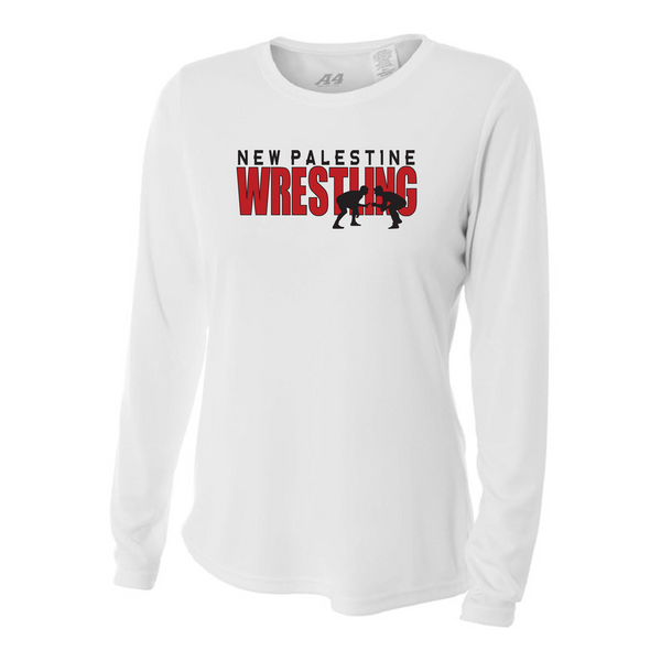 Womens Long Sleeve T-Shirt - Dragons Wrestling
