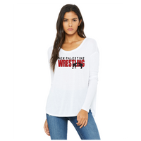 Womens Flowy Long Sleeve T-Shirt - Dragons Wrestling