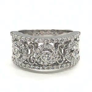 14kt 0.68ctw Wide Diamond Band