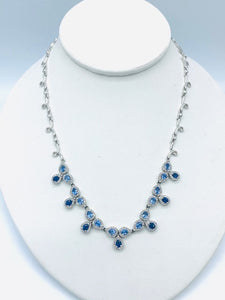 Effy Sapphire and Diamond Necklace