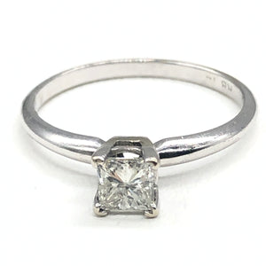 14kt approx. 0.40ct Princess Cut Diamond Solitaire Engagement Ring