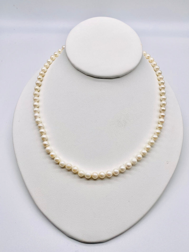 14kt 6mm Pearl Necklace