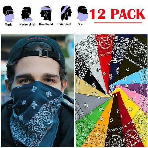 Wholesale Mayoreo Bandanas 12 dozen Multicolor - Market Libre