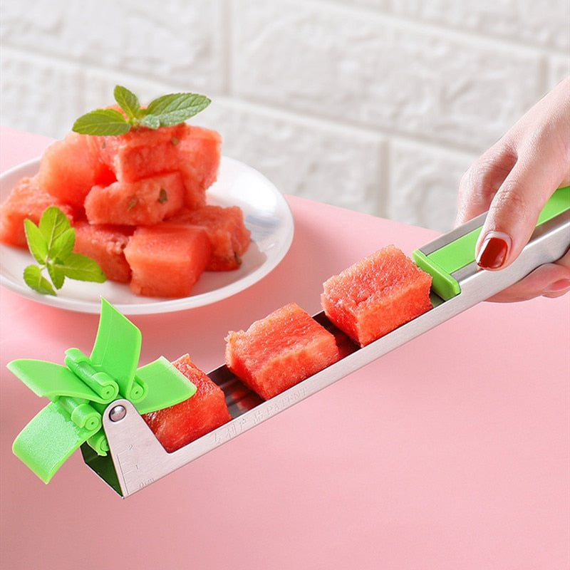 Watermelon Windmill Cutter Slicer Stainless Steel Melon sandía Multi melón, Watermelon cortadora de acero inoxidable - Market Libre