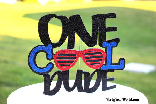 One Cool Dude Cake Topper