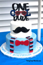 Load image into Gallery viewer, One Cool Dude Cake Topper