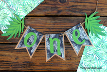 Load image into Gallery viewer, Tropical One Banner, Tropics High Chair Banner, Boy's 1st Summer Birthday Decor