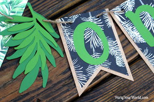 Tropical One Banner, Tropics High Chair Banner, Boy's 1st Summer Birthday Decor