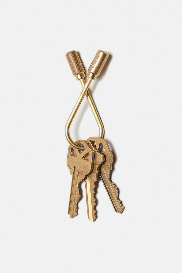 CLOSED HELIX KEYRING-BRASS