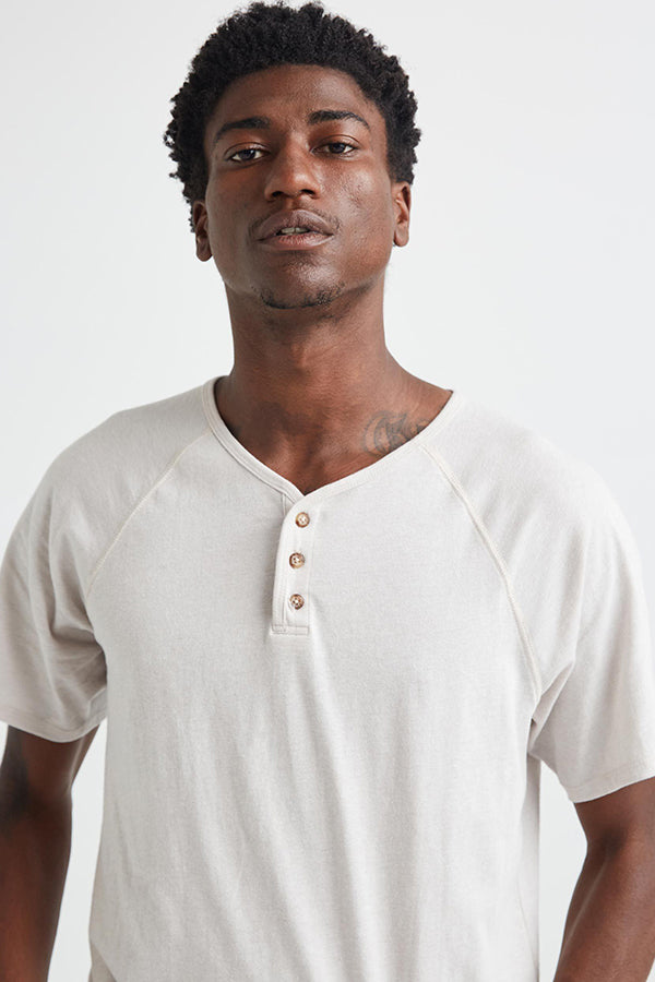 SHORT SLEEVE BASEBALL HENLEY