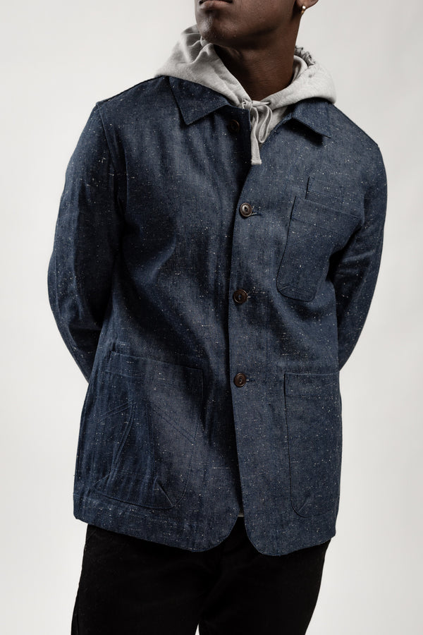 NS COMBAT BLAZER NEPPING DENIM