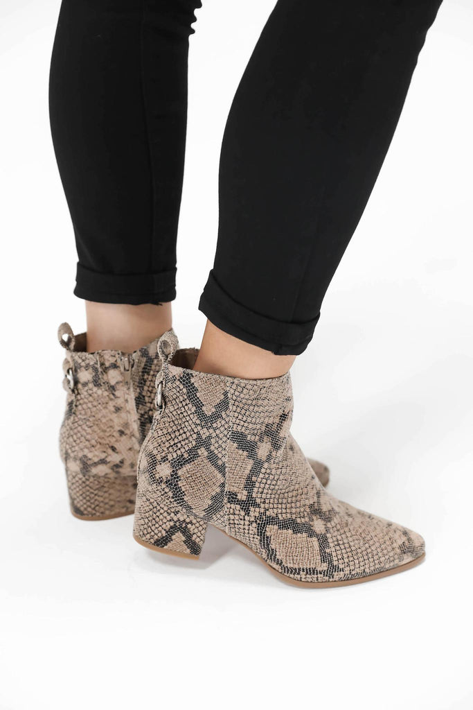 Take Me With You Snake Booties
