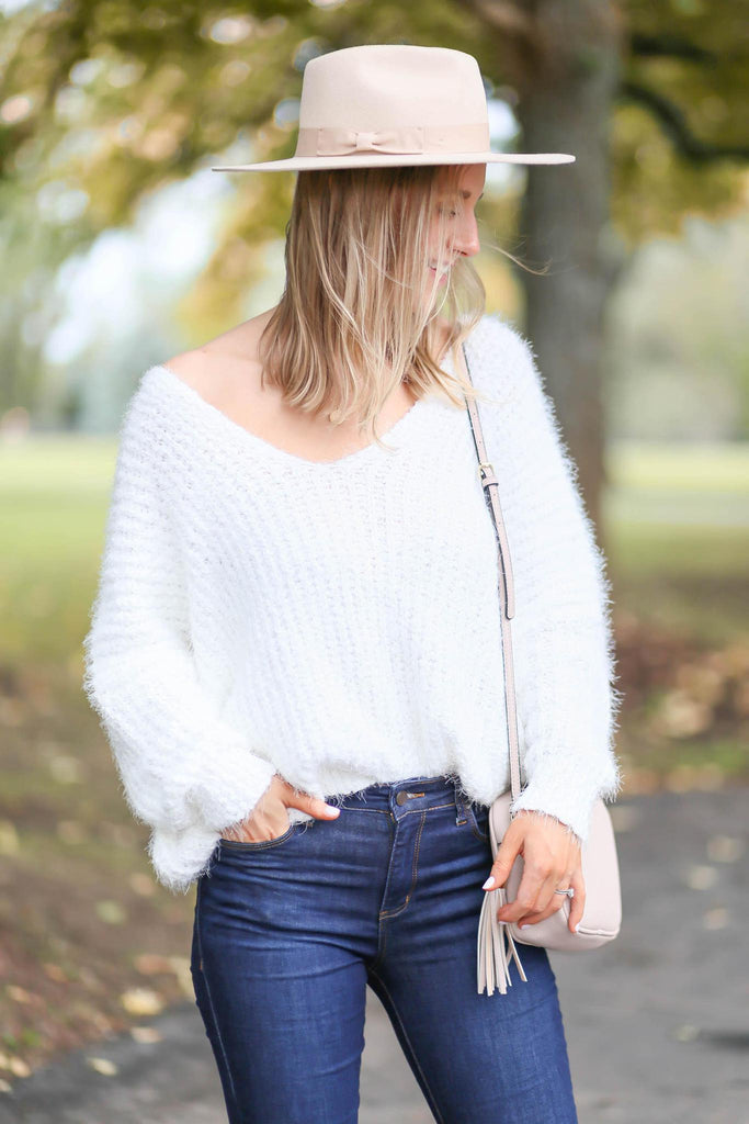 "Soft and Slouchy Off the Shoulder Sweater ""Inspired by Heather Sprague"""