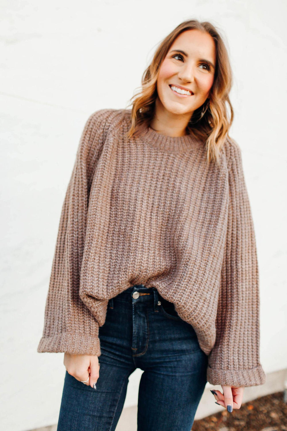 Mocha Cropped Sweater Inspired By Ashley from Twenties Girl Style