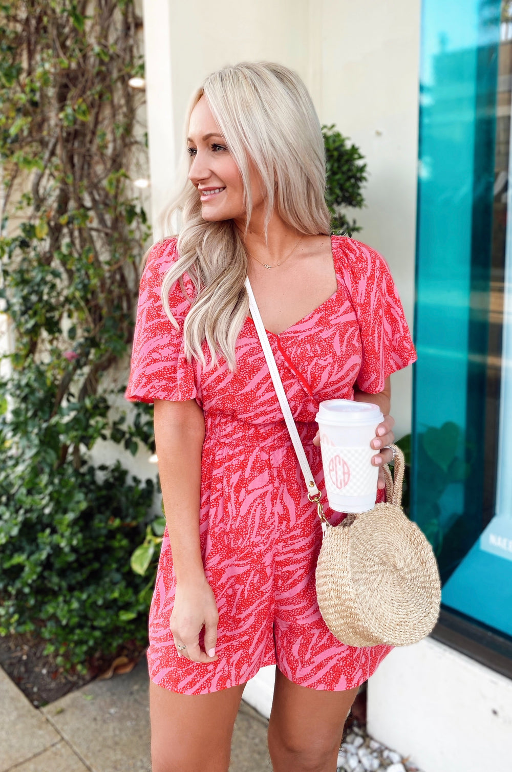 Sugar & Sweet Pink Romper Inspired by Lauren | The Palm Beach Collection