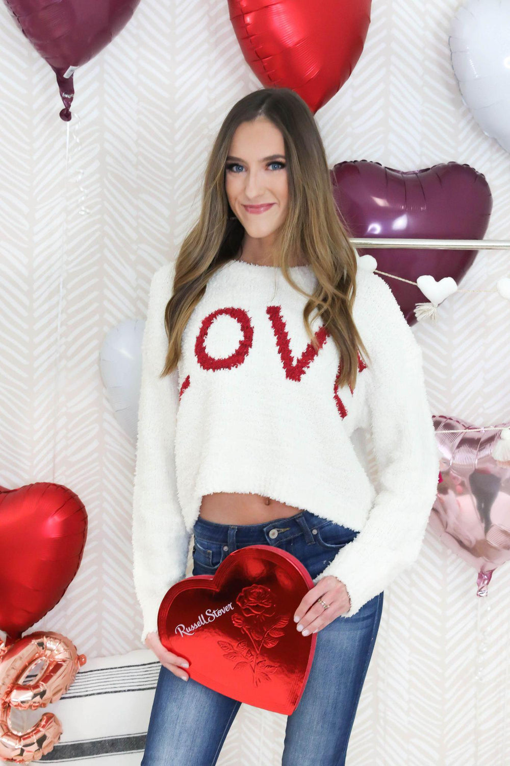 LOVE Embroidered Sweater