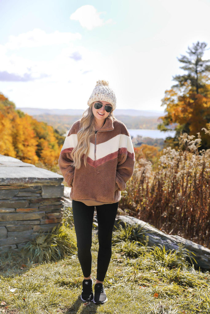 RESTOCK Meet Me at the Lodge Chevron Pullover