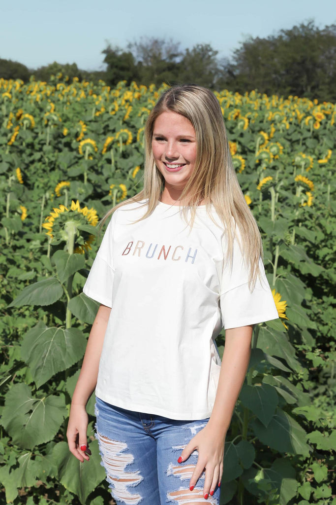 Embroidered Brunch Tee