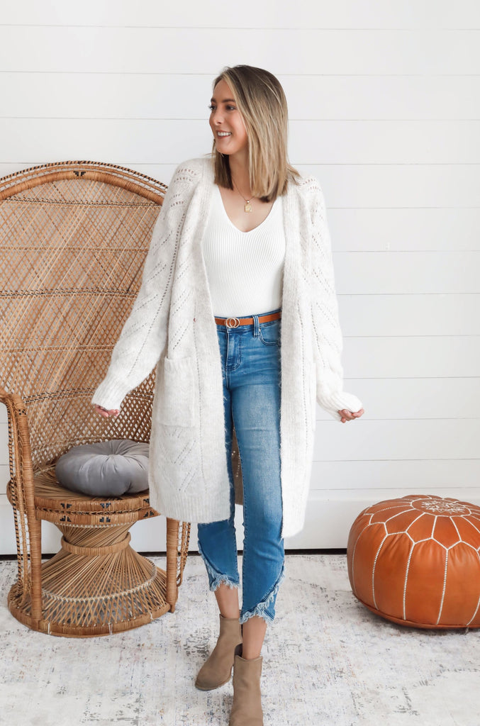 Allie Knit Wool Cardigan