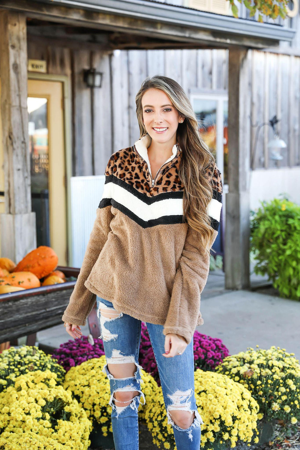 Hear Me Out Soft Leopard Pullover Inspired By Pam Carper x Kendra Scott